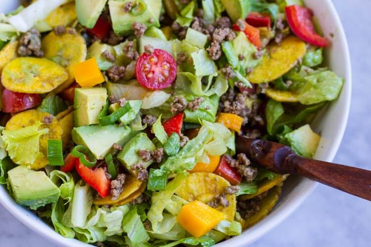 Quick and Easy Taco Salad (paleo and Whole30)