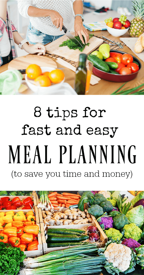 8 Tips for Fast and Easy meal Planning - www.savorylotus.com