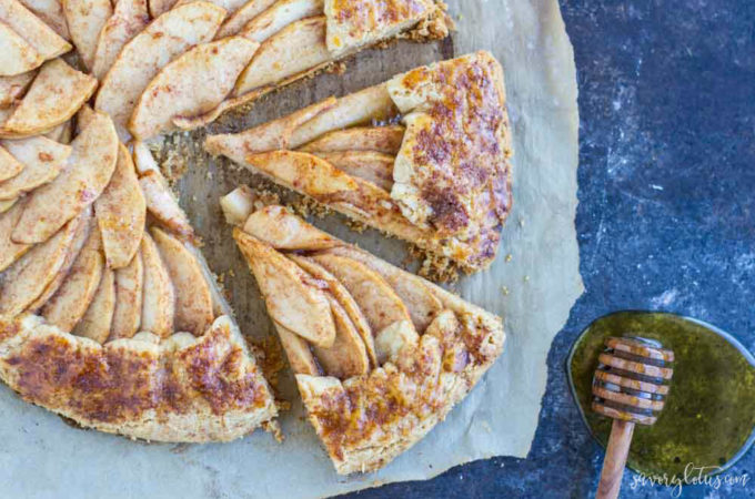 Apple Galette (gluten free and paleo) | www.savorylotus.com