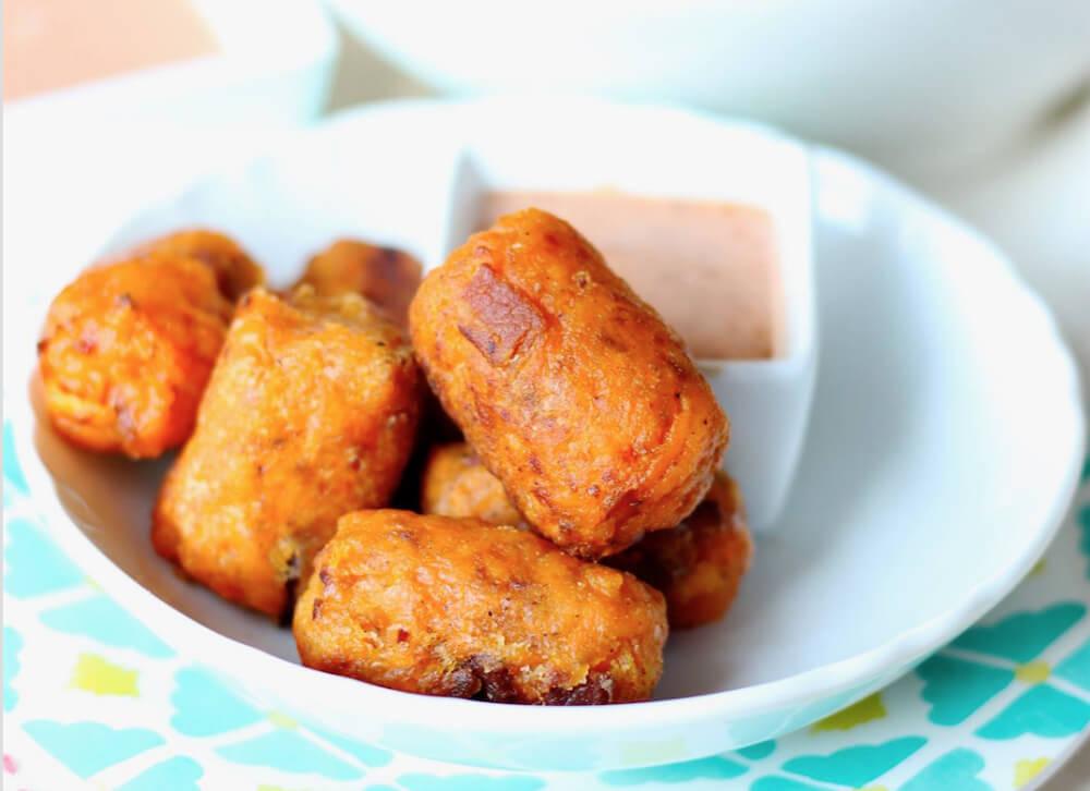 Sweet Potato Bacon Tots (gluten free, paleo) | www.savorylotus.com