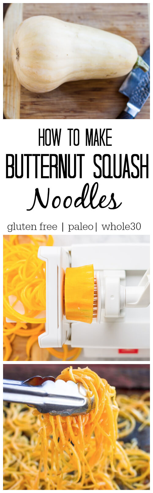 spiralizer making noodles from butternut squash
