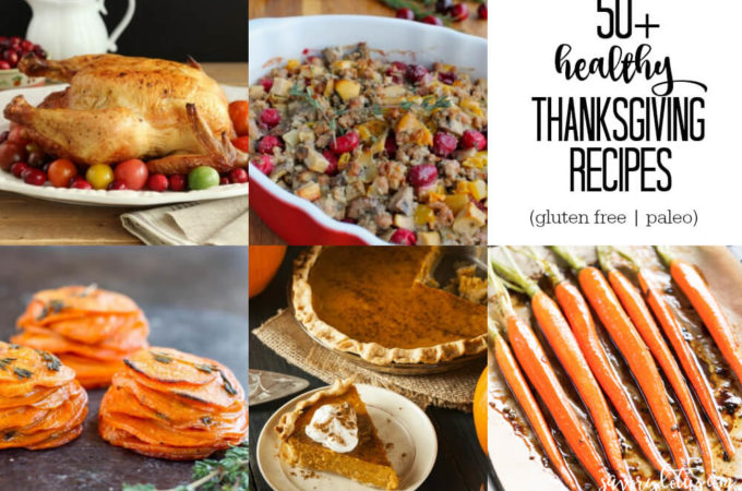 50+ Healthy Thanksgiving Recipes (gluten free, paleo) | www.savorylotus.com