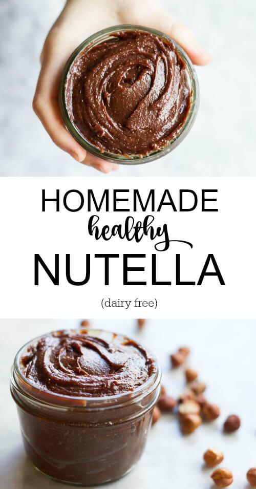Homemade Healthy Nutella (dairy free) - www.savorylotus.com
