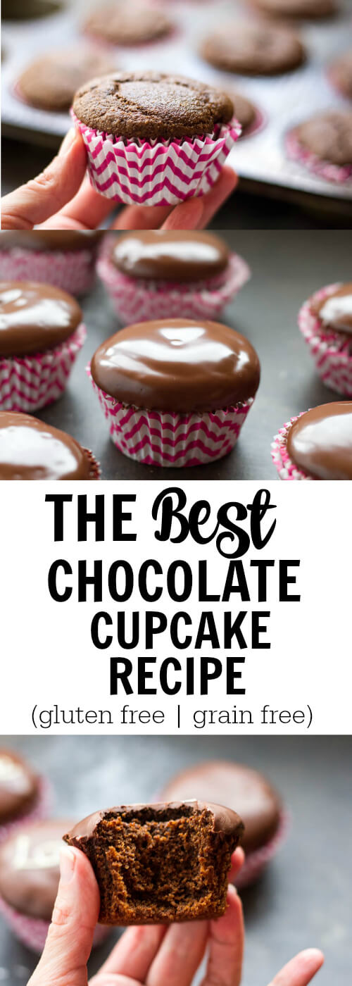The Best Chocolate Cupcake Recipe (gluten free and grain free) - www.savorylotus.com
