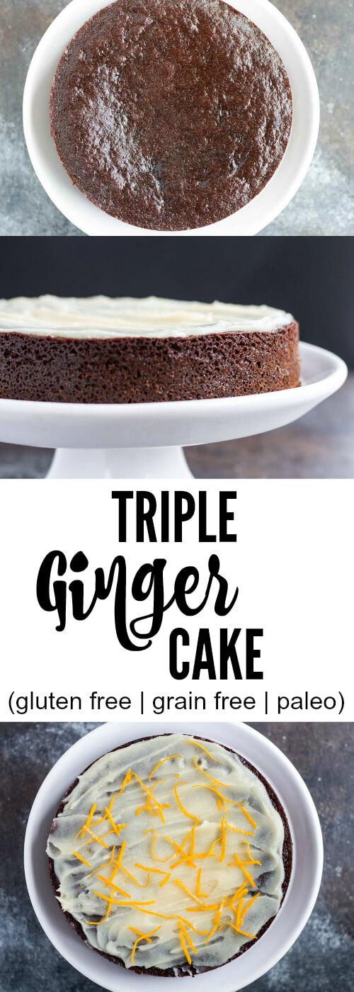 Triple Ginger Cake (gluten free| grain free) - www.savorylotus.com