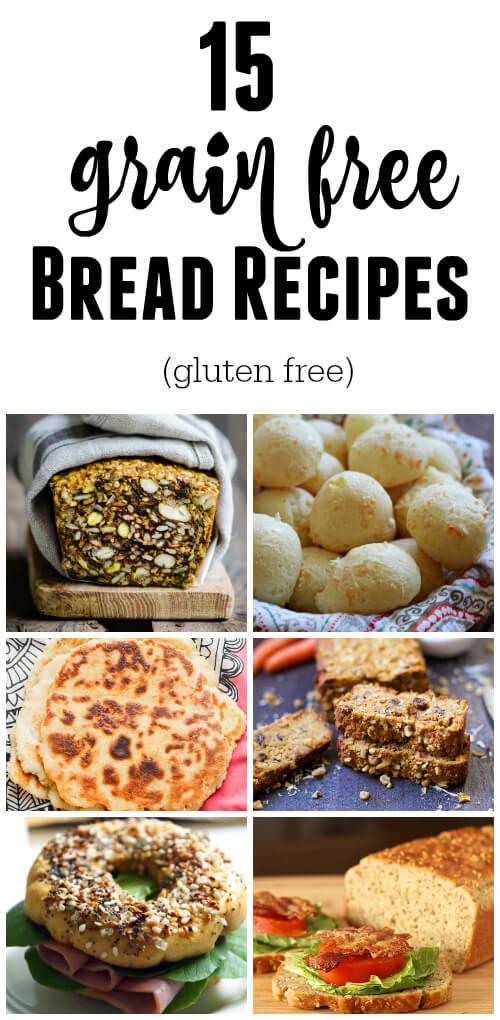 15 Grain Free Bread Recipes (gluten free) - www.savorylotus.com
