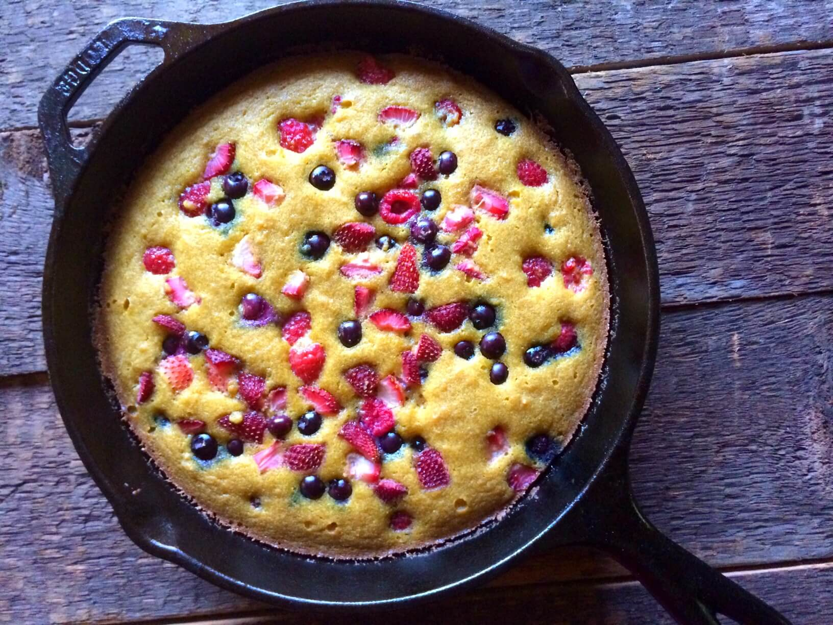 Lemon Berry Skillet Cake