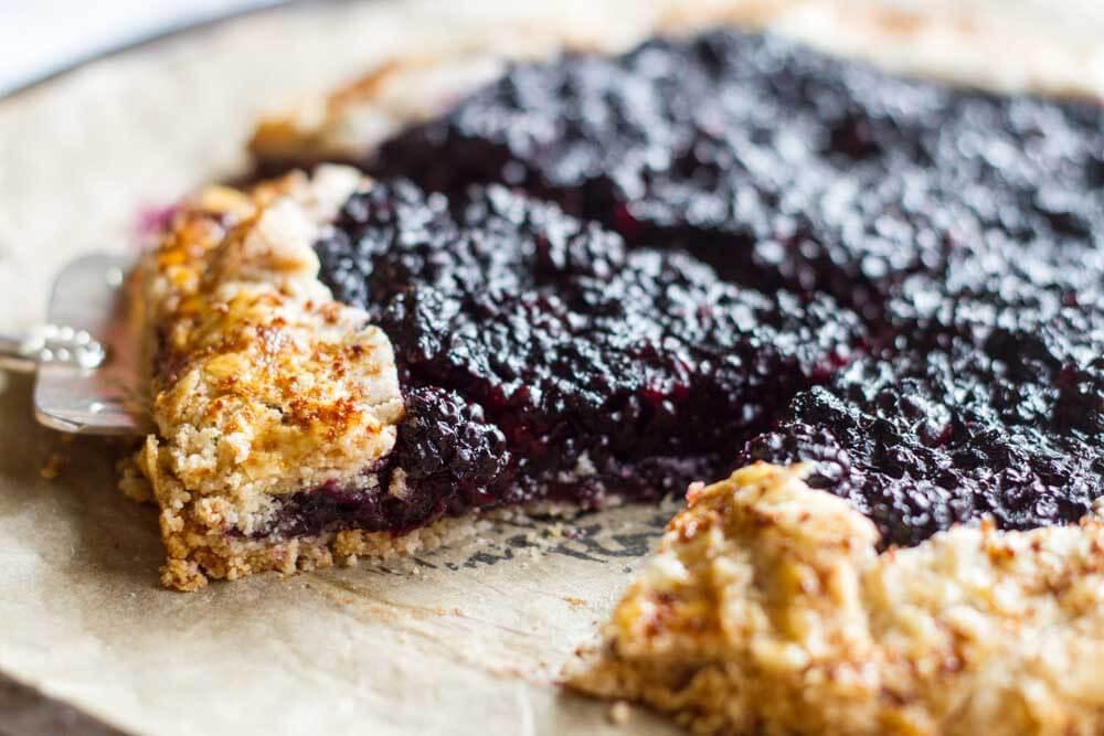 Blackberry Ginger Galette (gluten free and paleo) ~~ www.savorylotus.com