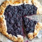 Blackberry Ginger Galette (gluten free and grain free) | www.savorylotus.com