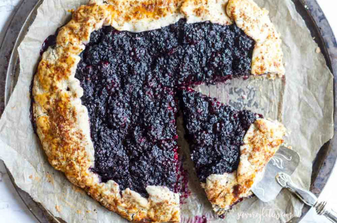 Blackberry Ginger Galette (gluten free and grain free) | www.savorylotus.com