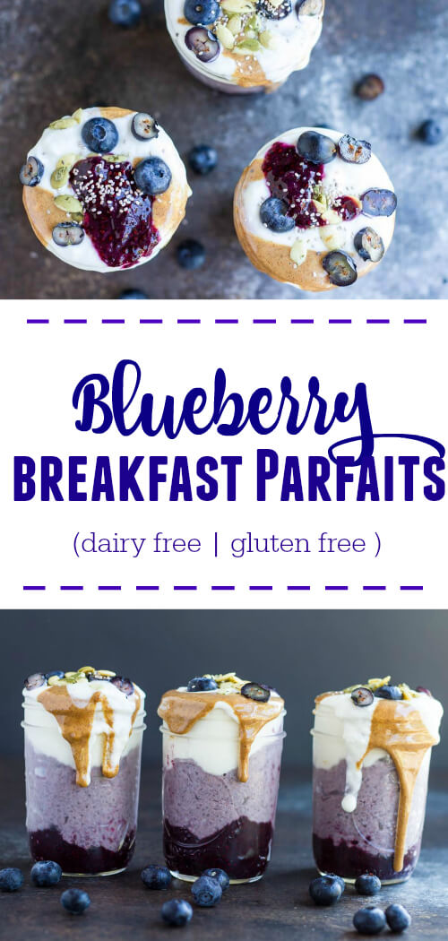 Blueberry Breakfast Parfaits - www.savorylotus.com