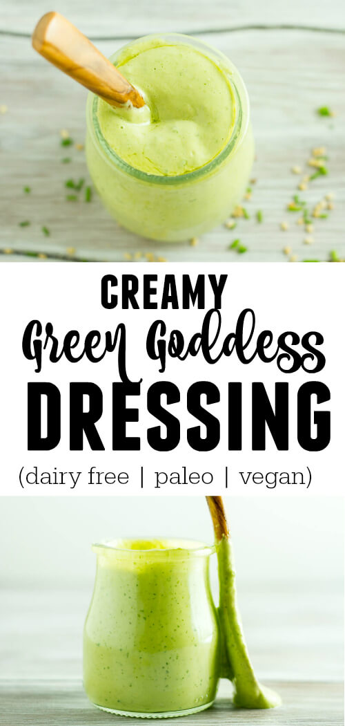 Creamy Green Goddess Dressing (dairy free, paleo, vegan) - www.savorylotus.com