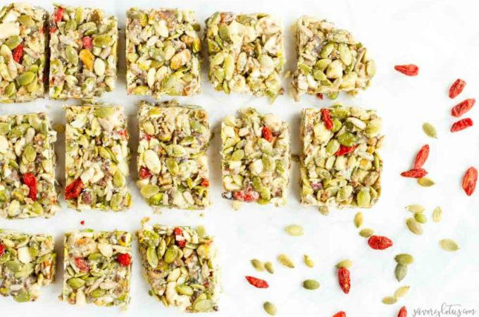 No Bake Tahini Honey Bars (gluten free, paleo) ... www.savorylotus.com