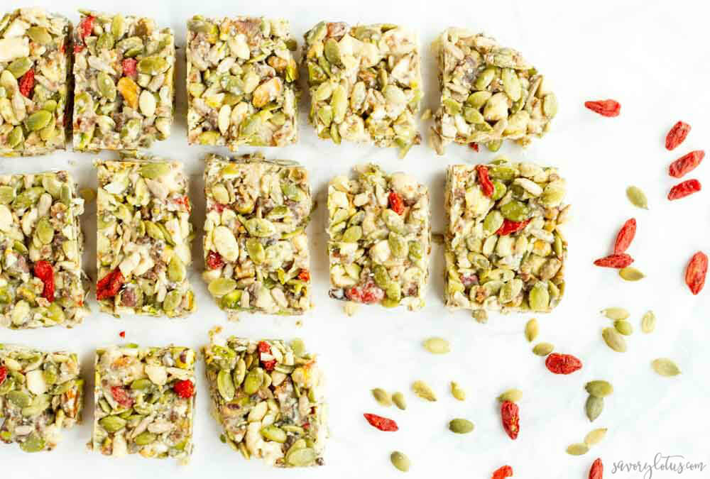 No Bake Tahini Honey Bars (gluten free, paleo, and vegan) ... www.savorylotus.com