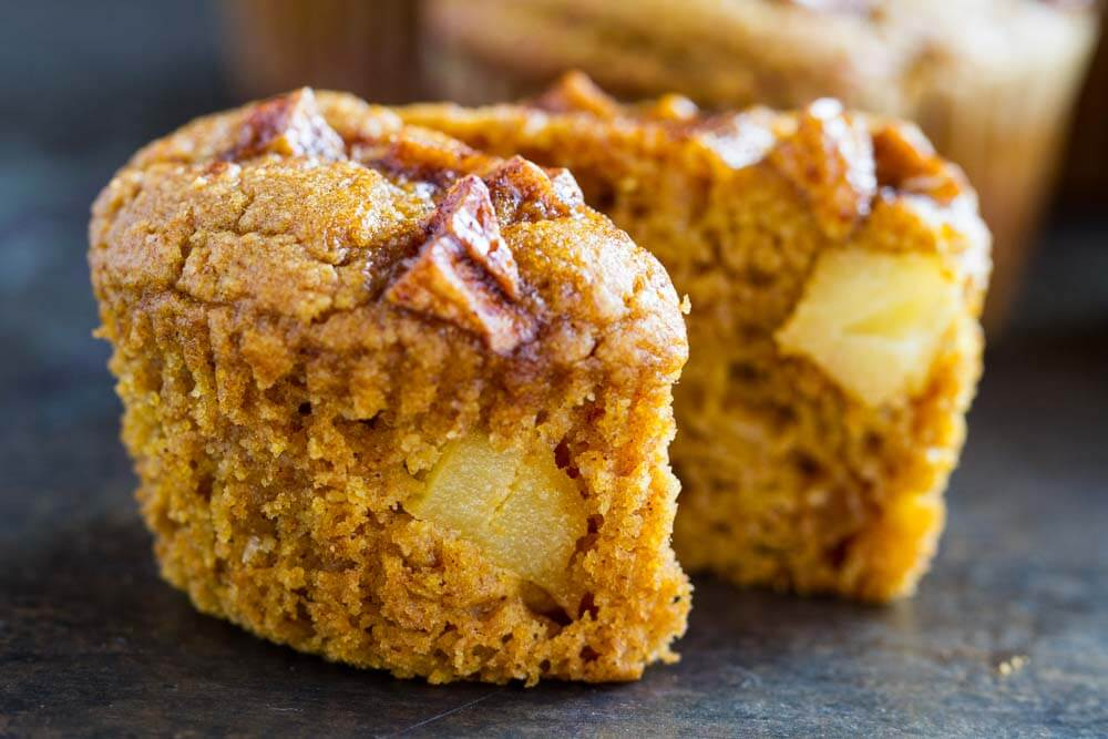Pumpkin Apple Muffins (gluten free and paleo) ~~ www.savorylotus.com