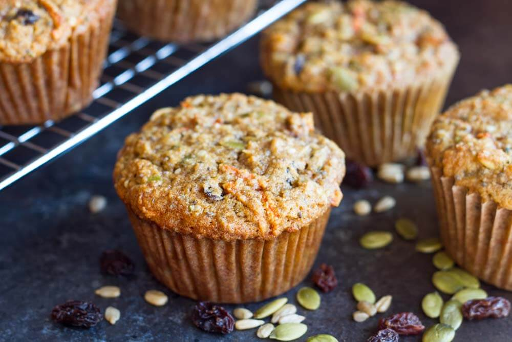 close up of breakfast muffin