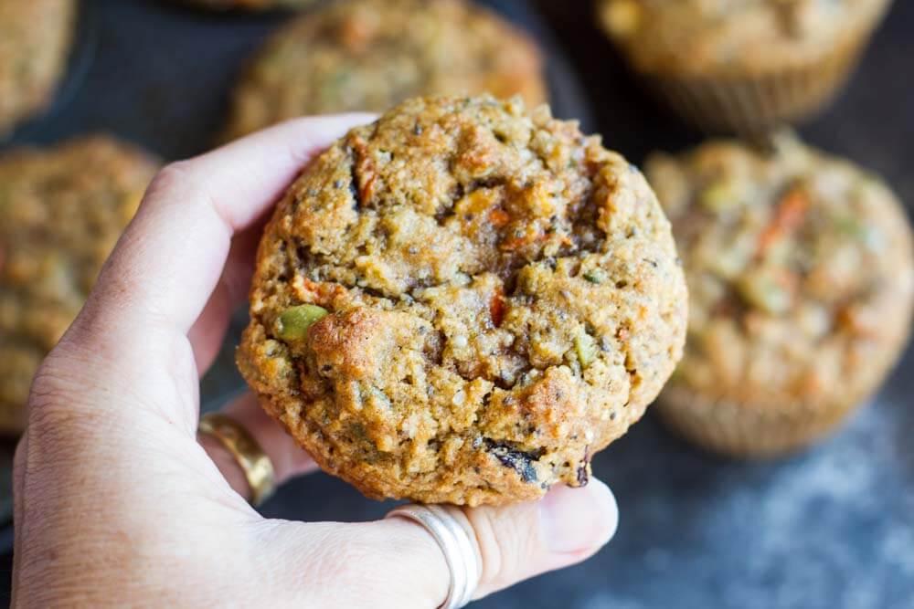 hand holding breakfast muffin