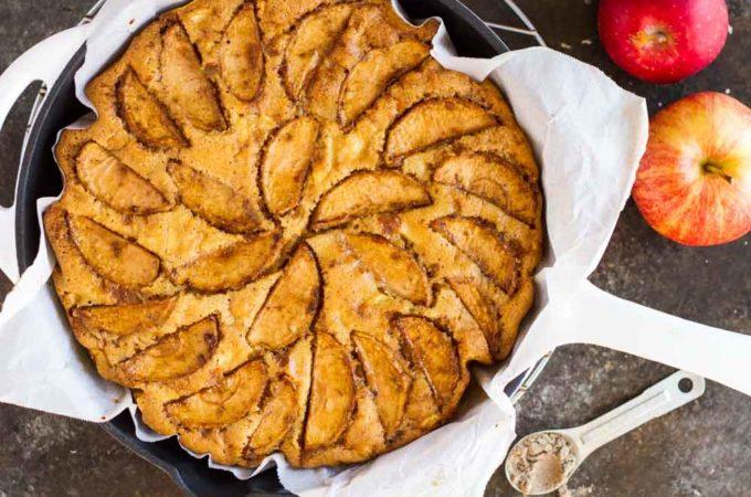 Cardamom Apple Cake (gluten free) | www.savorylotus.com