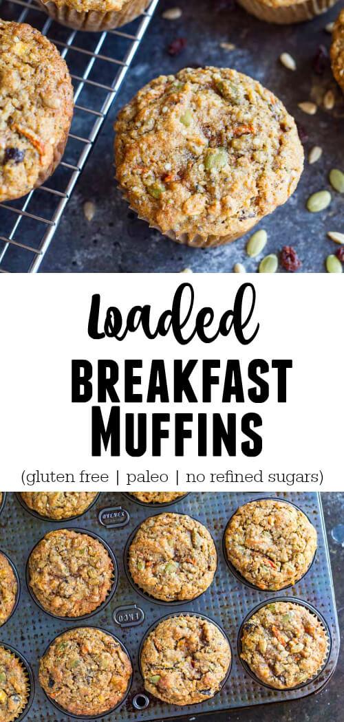 Loaded Breakfast Muffins (gluten free and paleo) - www.savorylotus.com