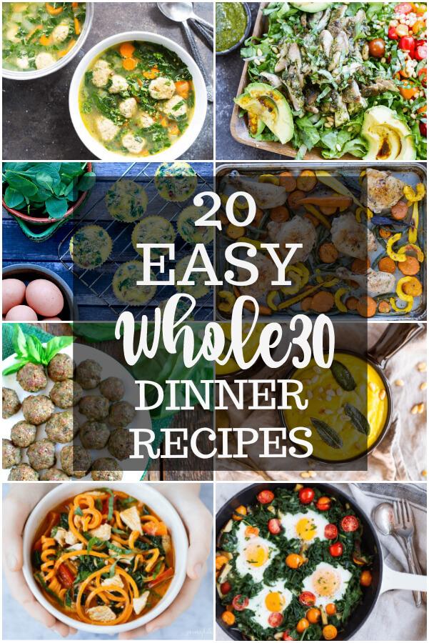 20 Easy Whole30 Dinner Recipes (gluten free, grain free, paleo) - www.savorylotus.com