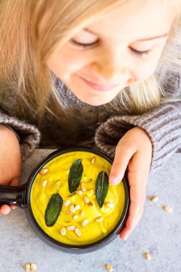 Creamy Broccoli Soup (dairy free) ~ www.savorylotus.com