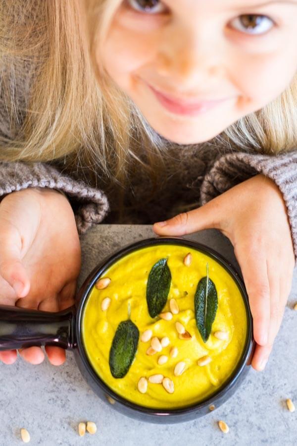 Creamy Broccoli Soup (dairy free) ~~ www.savorylotus.com