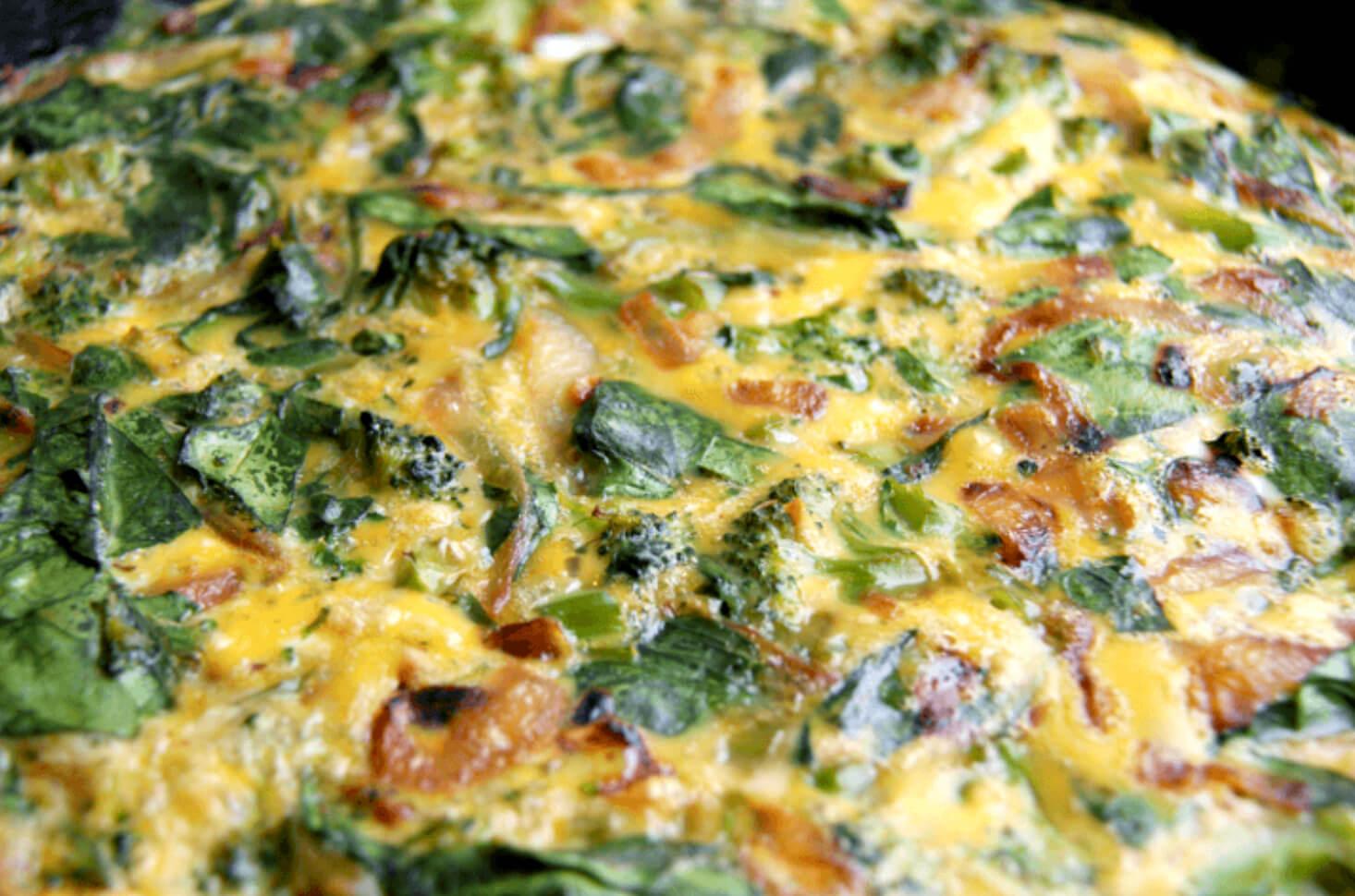 Broccoli Spinach Frittata