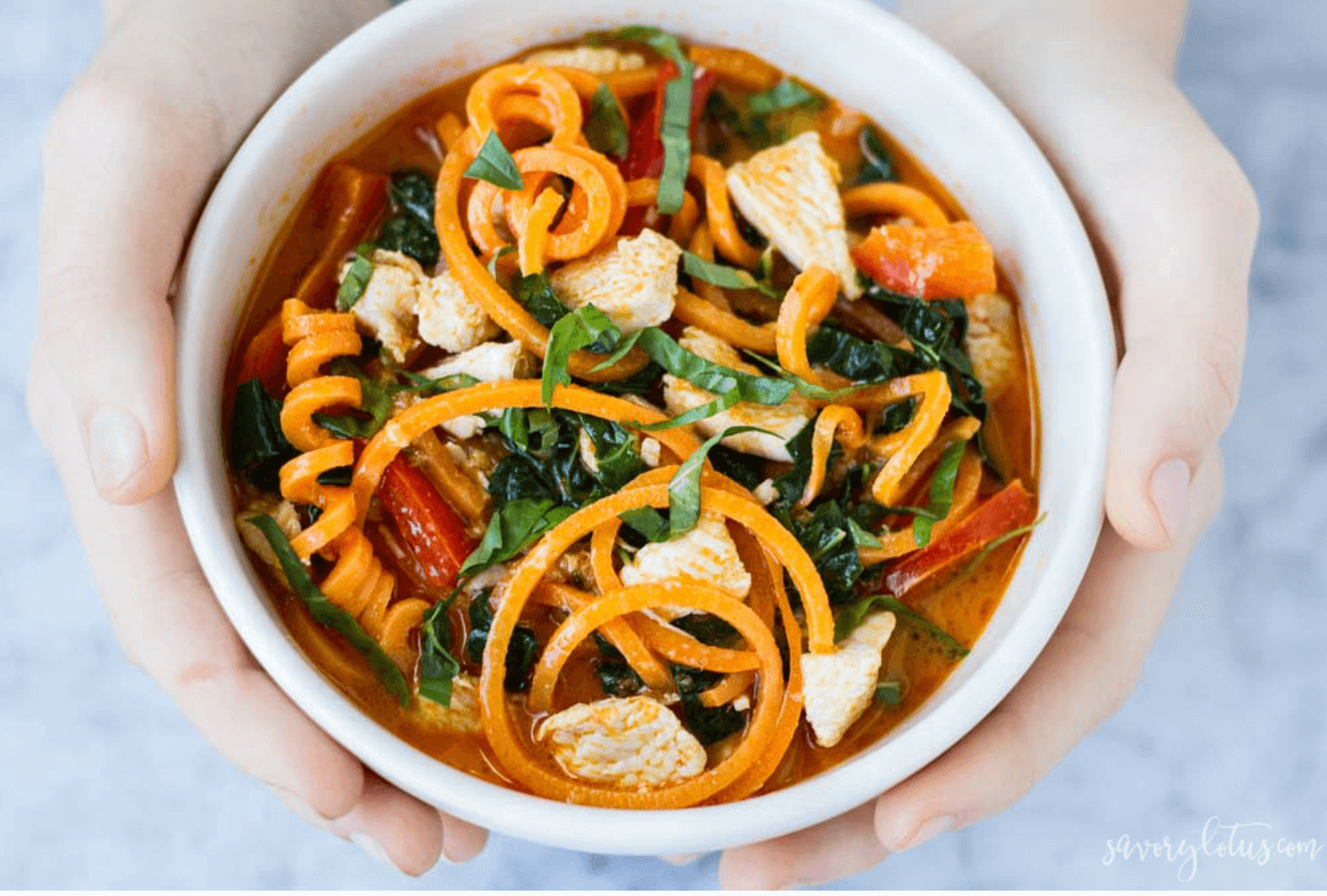 Red Thai Curry with Sweet Potato Noodles