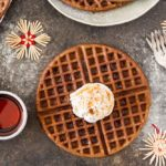 Gingerbread Waffles with Maple Cream (gluten free) | www.savorylotus.com