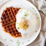 Flourless Savory Sweet Potato Waffles (gluten free)   www.savorylotus.com