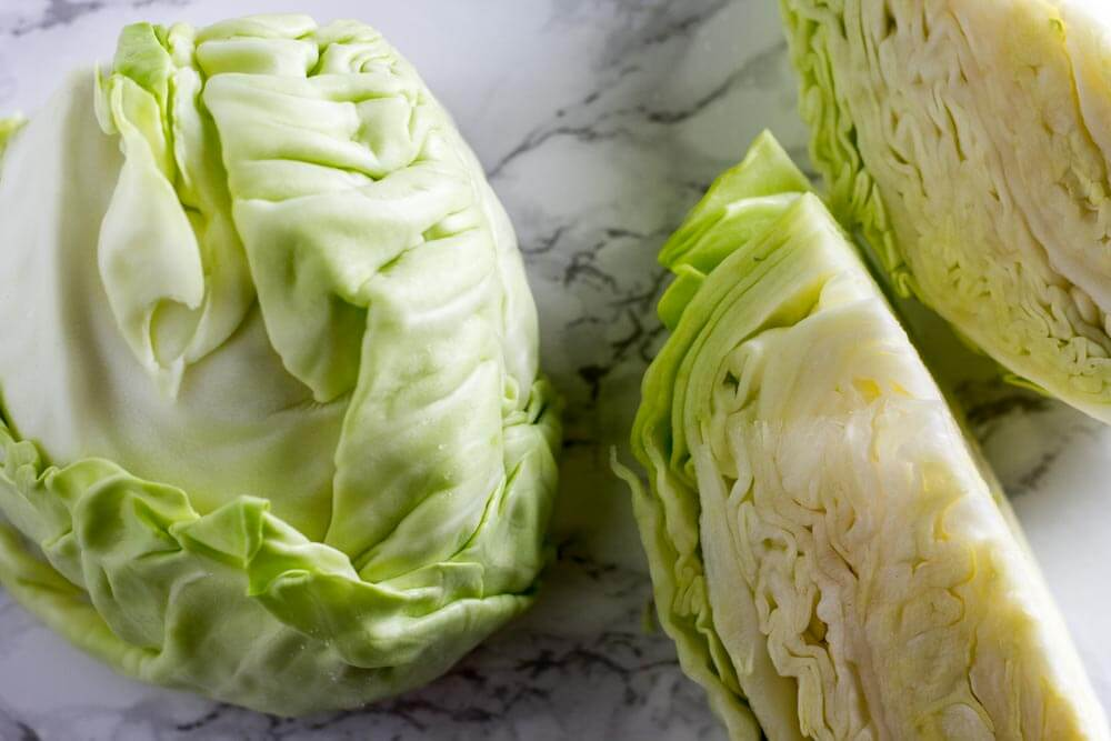 green cabbage sliced