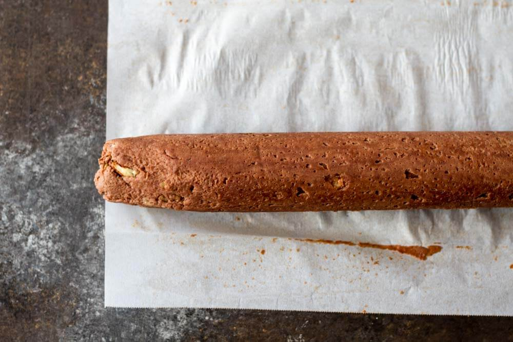 Chocolate Pecan Shortbread Cookies (gluten free) cookie roll | www.savorylotus.com