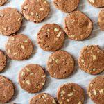 Chocolate Pecan Shortbread Cookies (gluten free) -- www.savorylotus.com