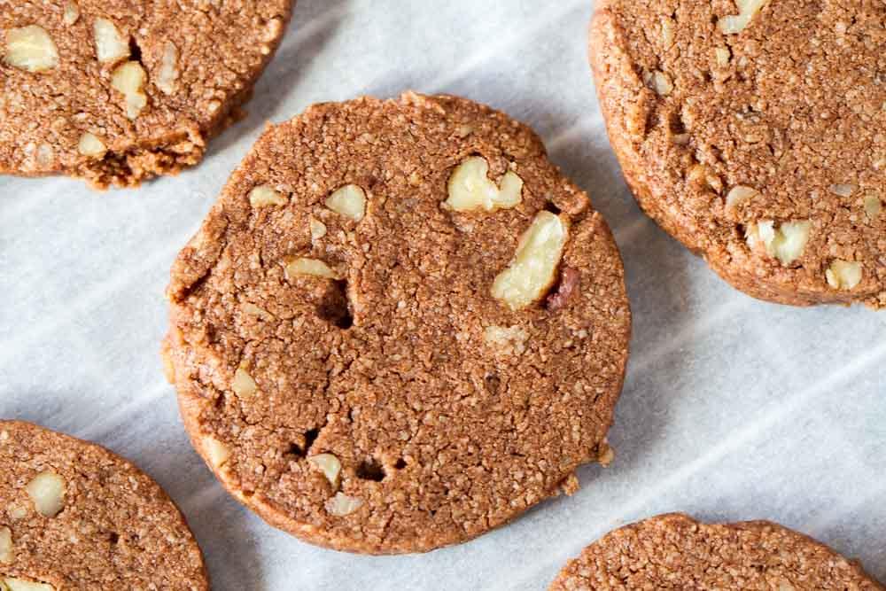 Chocolate Pecan Shortbread Cookies (gluten free) ~~~ www.savorylotus.com