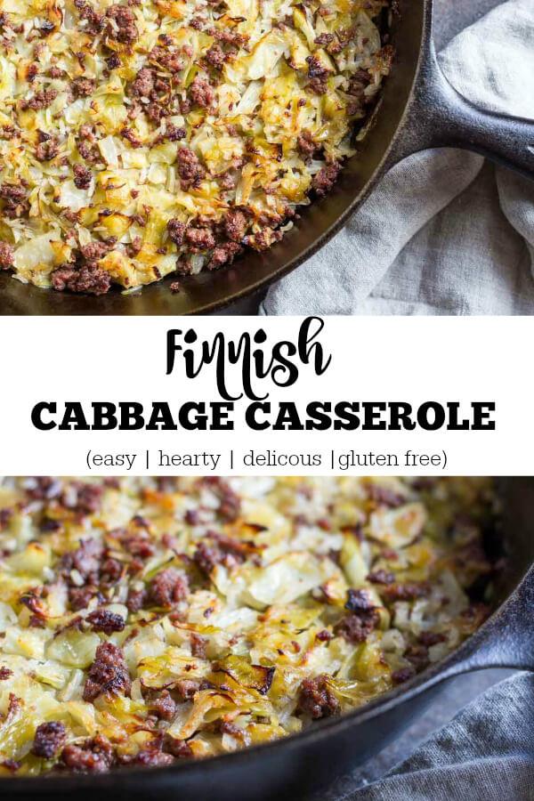 Finnish Cabbage Casserole (gluten free) - www.savorylotus.com