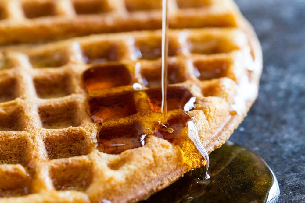 The Best Crispy Waffle Recipe (gluten free, nut free, paleo) \\\ www.savorylotus.com