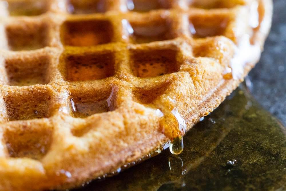 The Best Crispy Waffle Recipe (gluten free, nut free, paleo) \\\\ www.savorylotus.com