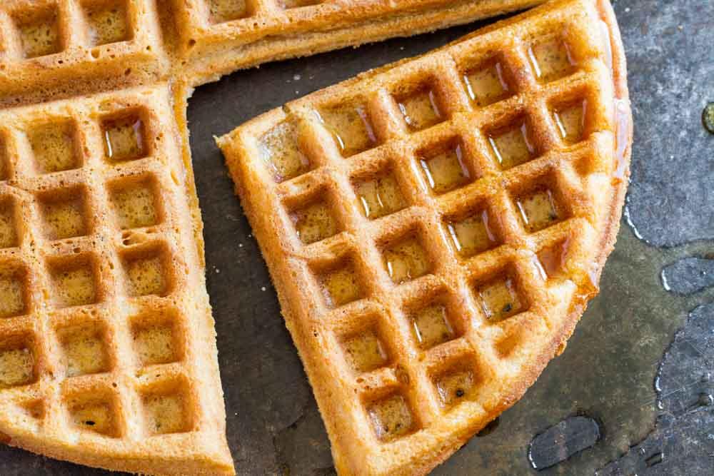 The Best Crispy Waffle Recipe (gluten free, nut free, paleo) || www.savorylotus.com