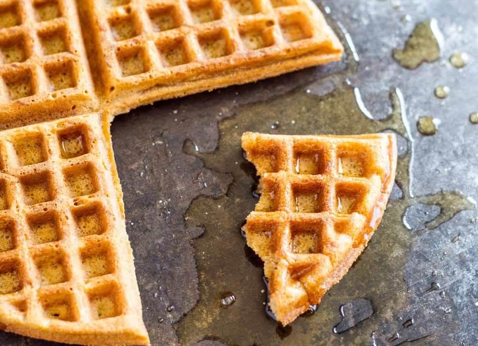 The Best Crispy Waffle Recipe (gluten free, nut free, paleo) ||| www.savorylotus.com