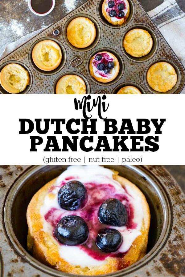 Mini Dutch Baby Pancakes (gluten free, nut free, paleo) - www.savorylotus