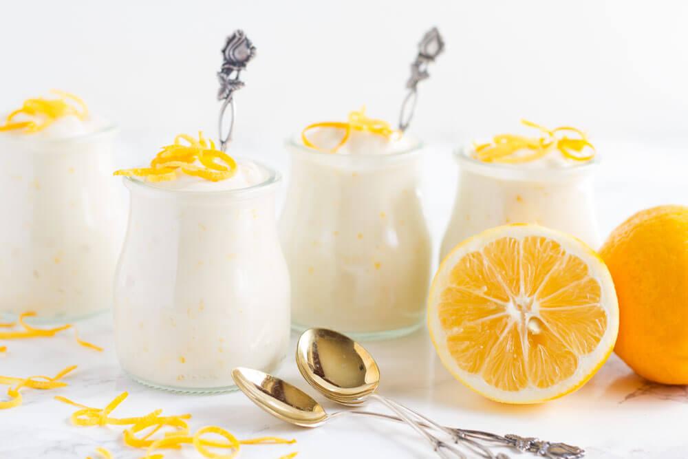 Meyer Lemon Pudding | www.savorylotus.com