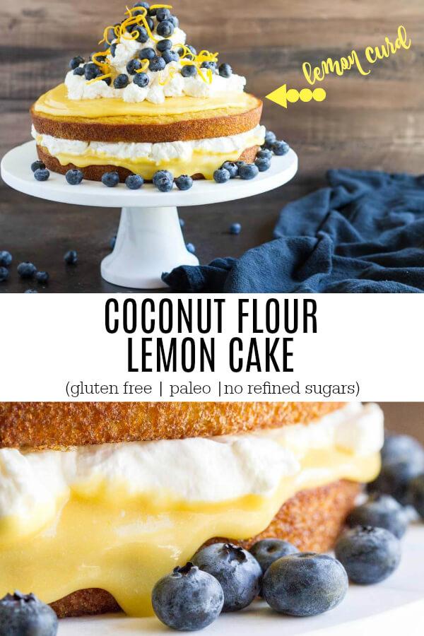 Coconut Flour Lemon Cake (gluten free) - www.savorylotus.com