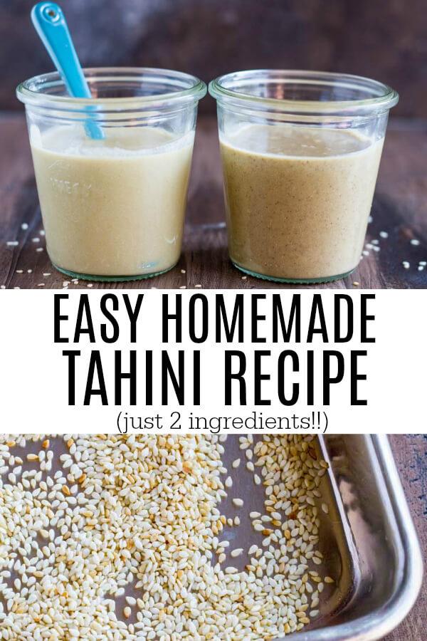 Easy Homemade Tahini Recipe | www.savorylotus.com