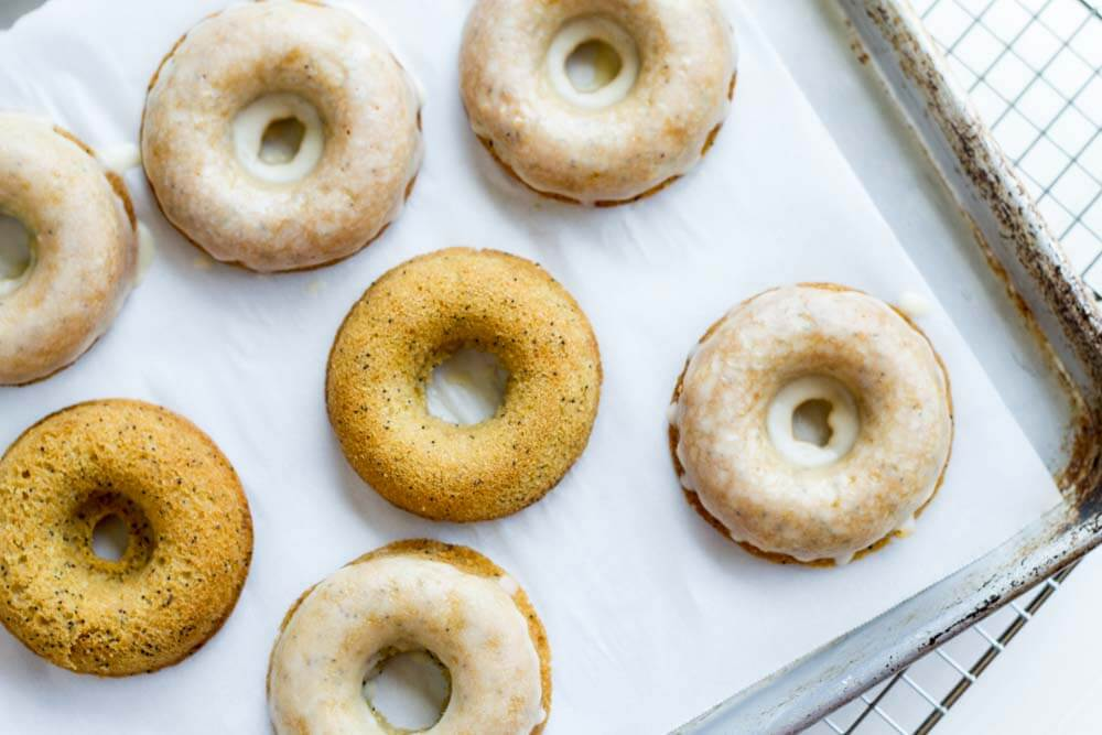 Lemon Poppy Seed Donuts (gluten free, paleo, grain free) ~ www.savorylotus.com