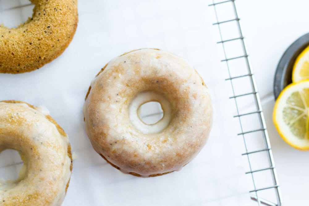 Lemon Poppy Seed Donuts (gluten free, paleo, grain free) --- www.savorylotus.com