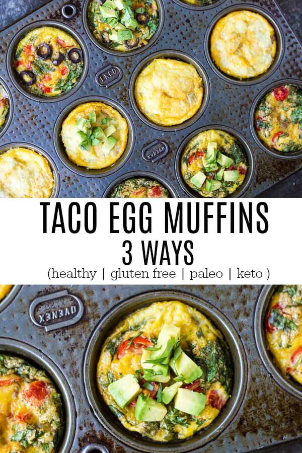 Taco Egg Muffins (gluten free, paleo, and keto) - www.savorylotus.com