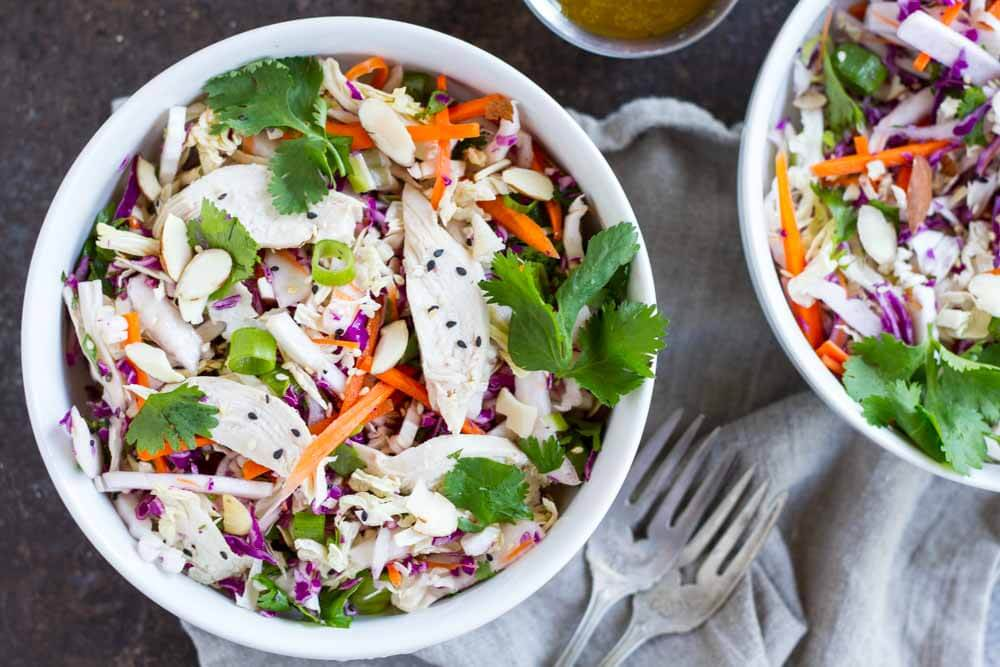 15 Minute Chinese Chicken Salad (gluten free and paleo) | www.savorylotus.com