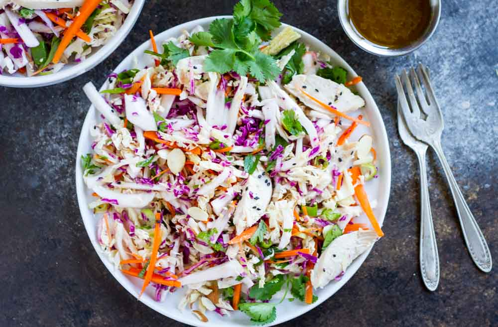 15 Minute Chinese Chicken Salad (gluten free and paleo) ~~~ www.savorylotus.com