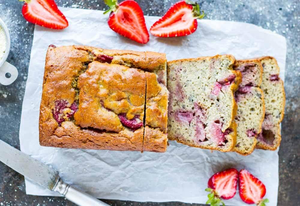 Strawberry Banana Bread (gluten free, paleo, sugar free) \\\\\ www.savorylotus.com