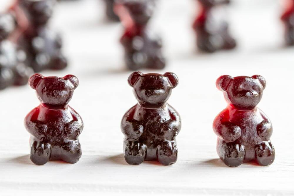 Immune Boosting Elderberry Gummy Bears - Savory Lotus